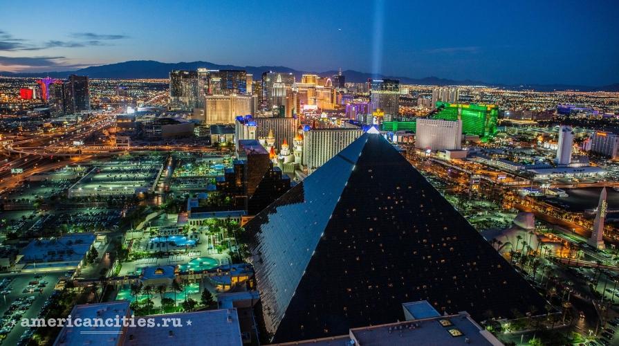Фото ночного Лас-Вегаса